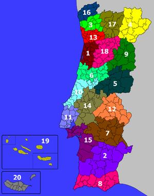 mapa de municipios de portugal Portugals kommuner – Wikipedia mapa de municipios de portugal