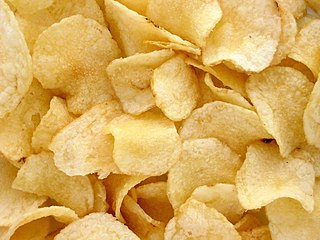 Potato chip Deep-fried or baked thin slice of potato