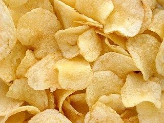 Potato chip deep fried thin slice of potato