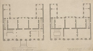 Powis House - Ground and first floor plans