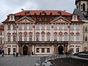 Kinsky Palace where Kafka attended gymnasium and where his father later owned a shop