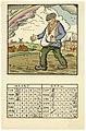 Prent van de Pallieter-kalender Landelijk Leven, maart-april 1933, Felix Timmermans, 1933, prent, Letterenhuis (Antwerpen) - tg lhpr 9143.jpg