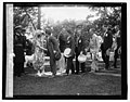 Pres. & Mrs. Coolidge at garden party, 6-3-26 LCCN2016842191.jpg