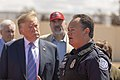 President Donald J. Trump visits the border wall near Calexico, CA.jpg