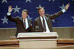 President Reagan and Vice President Bush at the Republican National Convention in Dallas Texas (cropped).jpg