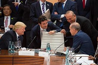 2017 G20 Hamburg summit - Donald Trump and Turkish President Recep Tayyip Erdoğan