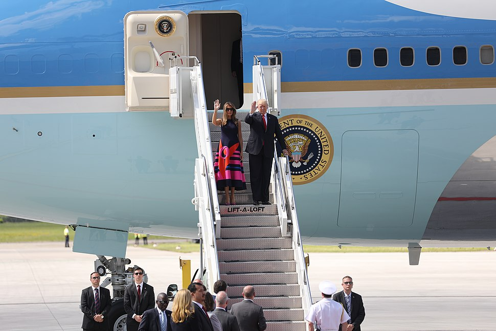 President Trump Arrives in Germany for the G20 Summit (35760177825)