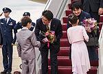 Prime Minister of Japan Shinzo Abe arrives at Joint Base Andrews 150427-F-WU507-054.jpg