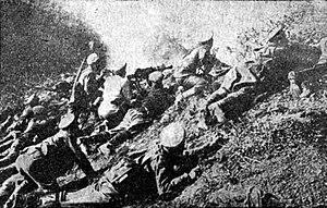 Battle of Skra-di-Legen - Bulgarian soldiers during the battle