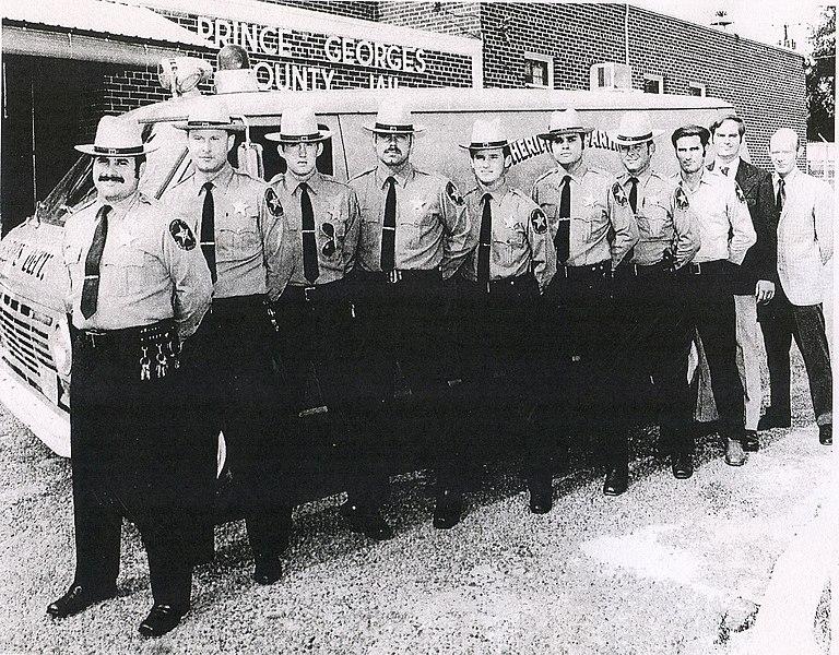 File:Prince George's County Sheriff's Office deputies in front of old vintage van.jpg
