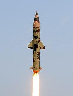 Prithvi (missile) short-range ballistic missile