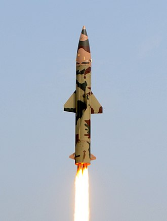 Prithvi (missile) - Prithvi II missile during a launch