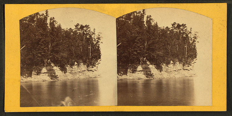 File:Profile Point, Pictured Rocks, Michigan, from Robert N. Dennis collection of stereoscopic views.jpg