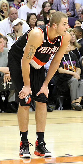 Joel Przybilla - Przybilla with the Trail Blazers in 2011
