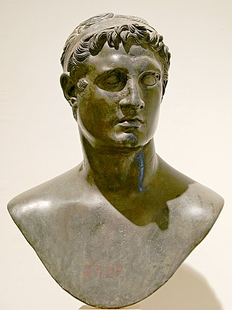 Ptolemaic Kingdom - A bust depicting King Ptolemy II Philadelphus 309–246 BC