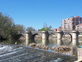 Siege of Burgos - Stone bridge at Palencia