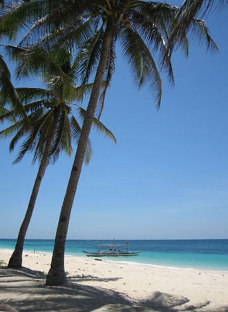 Boracay - Puka Beach on the northern shore of Boracay
