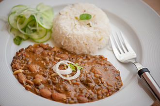 Dal makhani - Dal makhani served with rice