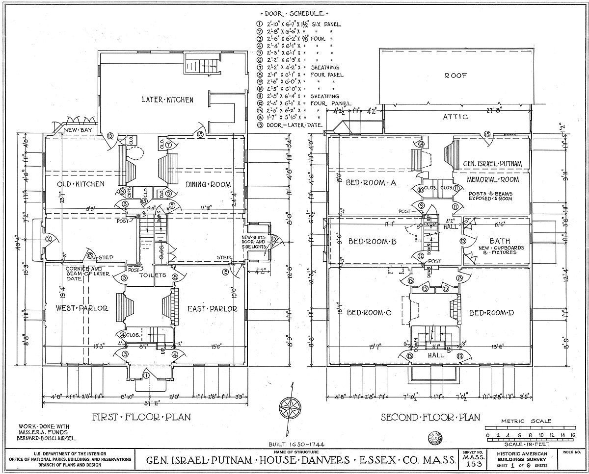 House plan wikipedia for Blueprint of a house with measurements