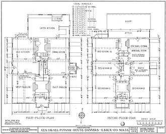 General Israel Putnam House - Image: Putnam House floor plans