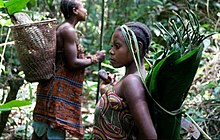 African forest man and woman