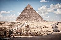 Pyramid of Khafre and Sphinx, Giza, Greater Cairo, Egypt.jpg