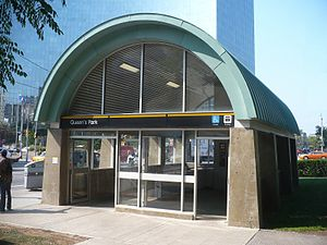 Queen's Park station (Toronto) - Northeast accessible entrance