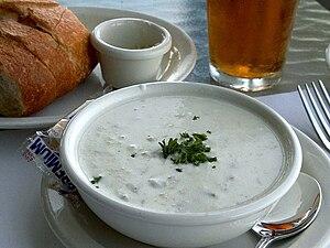 Cuisine of New England - New England Clam Chowder (Boston variety)