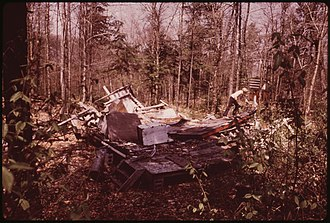 Anne LaBastille - Image: REMAINS OF A SUMMER COTTAGE WHICH COLLAPSED UNDER THE WEIGHT OF THE WINTER'S SNOWS NARA 554437