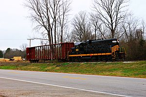 Ripley and New Albany Railroad - RNA switching lumber in Ripley