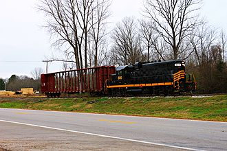 EMD GP8 - A Ripley and New Albany Railroad GP8 in 2012.
