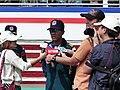 ROCA Dragon Team Sergeant Major Tseng Interviewing by Mass Media 20131012a.jpg