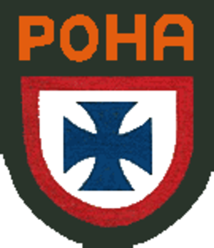 Russian collaborationism with the Axis powers - Patch worn by RONA soldiers.
