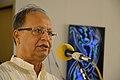 Radharaman Chakrabarty Addressing - Biswatosh Sengupta Solo Exhibition Inauguration - Kolkata 2015-07-28 3235.JPG