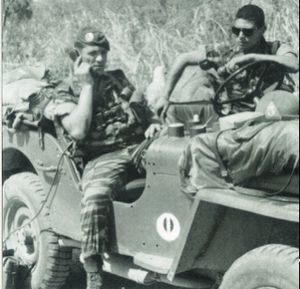 Battle of Kolwezi - French radio operator in a Jeep
