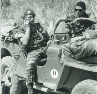 11th Parachute Brigade (France) -  A radio on a jeep during operation Bonite.