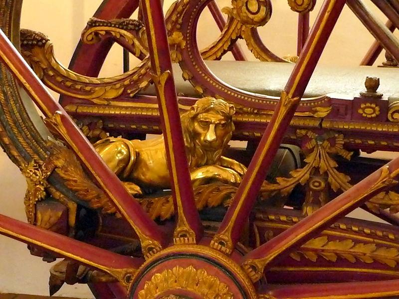 File:Radspeichen, Detail des sog. Hofschmied-Wagens (Marstallmuseum München).jpg