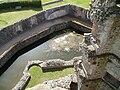 Raglan Castle tower and moat.JPG