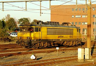 Trains in the Netherlands - 1600 Class locomotive in the Railion livery at Amersfoort station