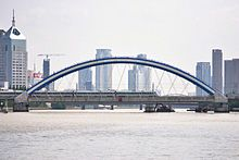 Railway Bridge on Fenghua River.JPG