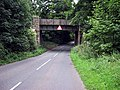 Railway bridge over Callow Hill Road in Alvechurch, Worcestershire. - geograph.org.uk - 584704.jpg