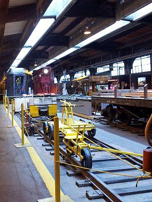Winnipeg Railway Museum - Image: Railway equipment at Winnipeg Railway Museum