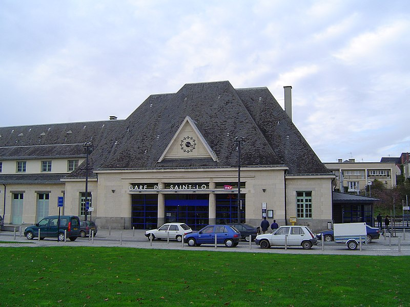 Railway station of Saint-Lô