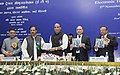 """Rajnath Singh realising the brochure at the launch of the """"Tourist Visa on Arrival enabled by Electronic Travel Authorization (ETA)"""", in New Delhi. The Minister of State for Culture (Independent Charge).jpg"""