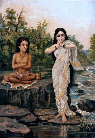 Rambha (apsara) - Rambha tries to seduce Shukra