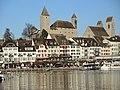 Rapperswil - Hafen - Seequai - Schloss-Stadtpfarrkirche - Seedamm 2013-12-01 14-47-47 (P7800).JPG