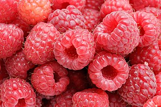 Raspberry - Red-fruited raspberries.