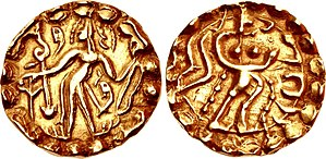 Samatata - Coin of Ratas Sridharanarata of the Samatata dynasty, circa 664-675 CE.