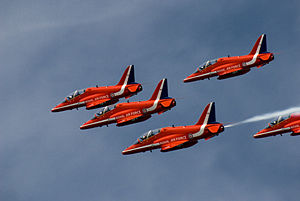 Red Arrows display at Portsmouth in July 2008 12.jpg