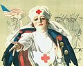 Red Cross Woman poster by Harrison Fisher, 1917 (cropped).jpg